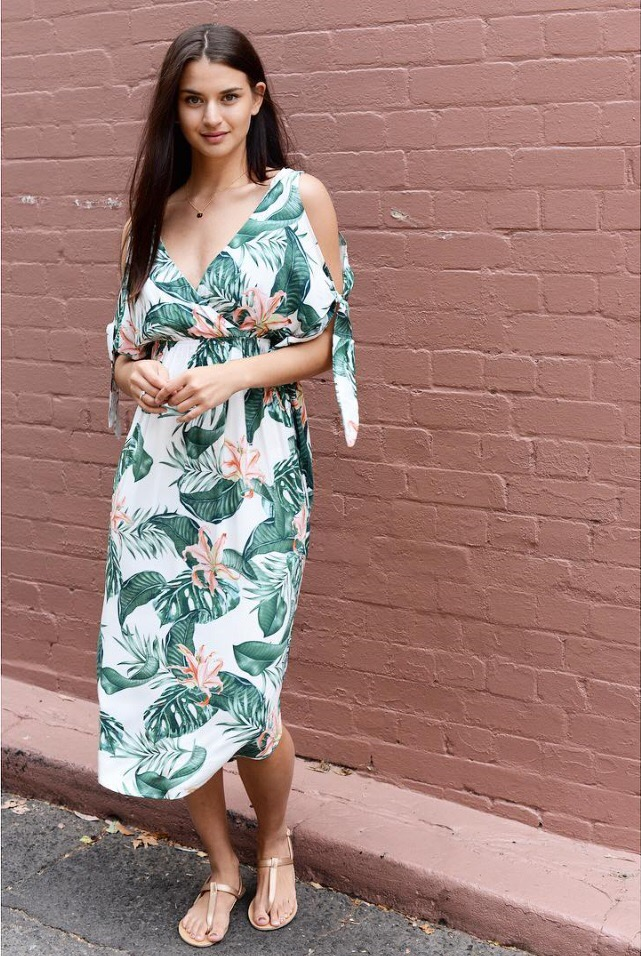 480658c3c69 Spend over  80 get FREE Shipping. Home   Women s Clothing   Dresses   Tropical  Maxi Dress