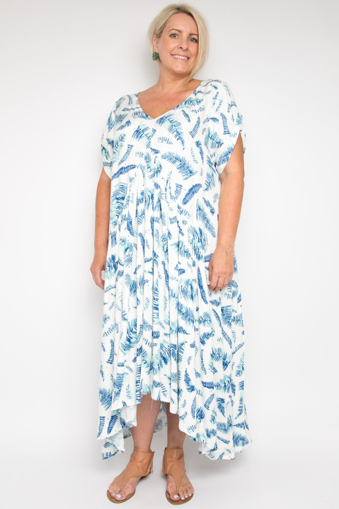 c0b61d8098271 Leaf Print Peak Maxi Dress