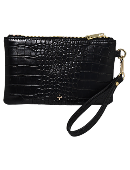 Bella Pouch in black croc