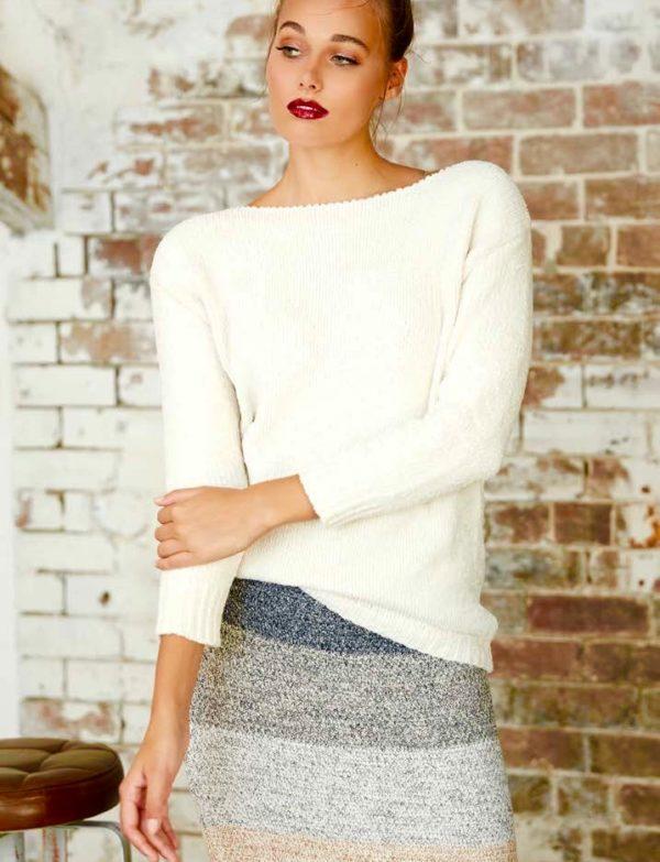 Chenille knit