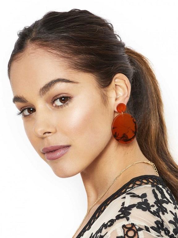 Tort Disk Earrings