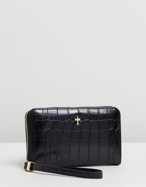 Ziggy purse in black croc