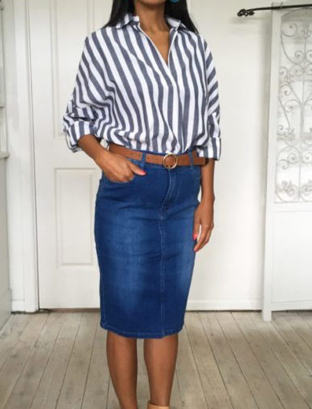 Blue Denim skirt dark