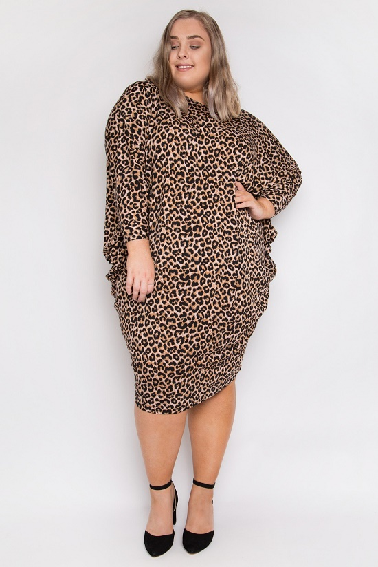 leopard Drape dress