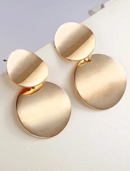 double disk earrings