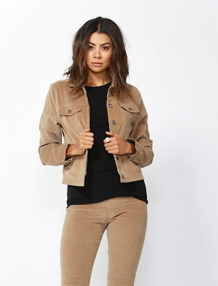 Corduroy Jacket in camel with matching jeans