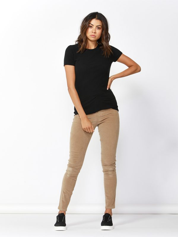 Corduroy Jeans in camel front view
