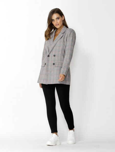 Plaid Blazer - Front view