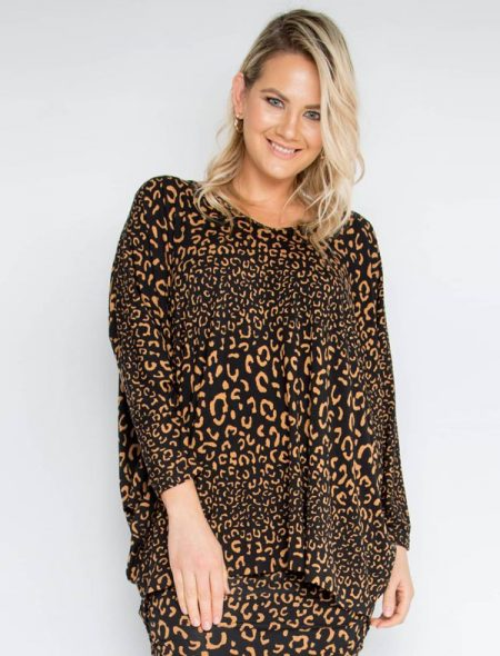 Winter leopard top