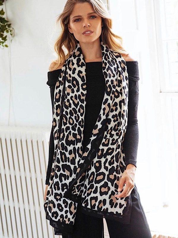snow leopard scarf