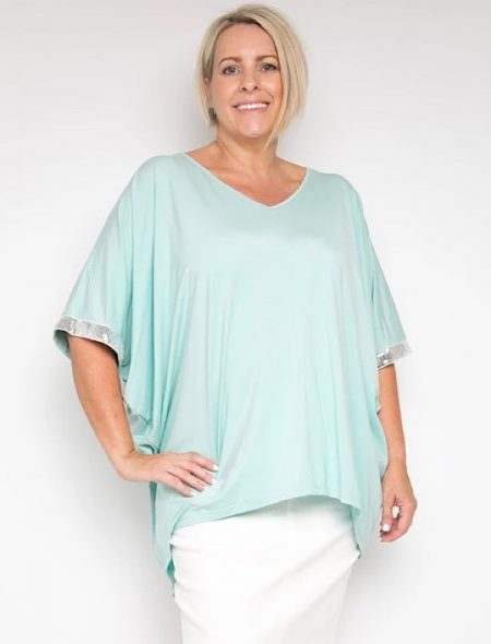 glamour bamboo miracle top in mint