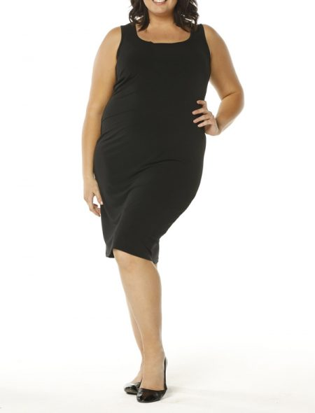 Curvy slip dress front