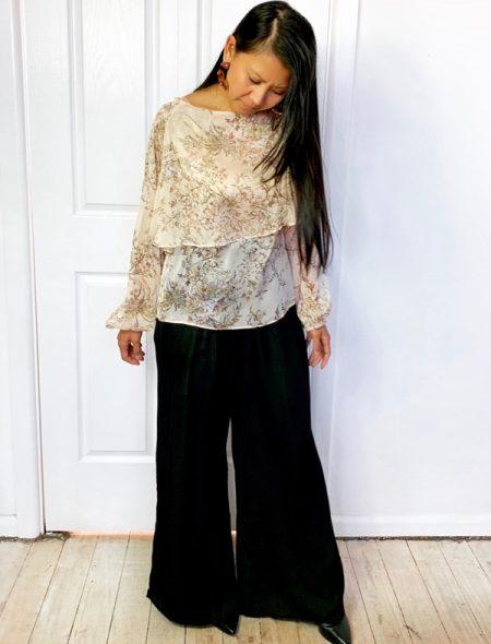 vintage floral blouse front