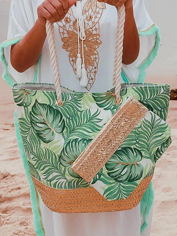 Palm beach tote close
