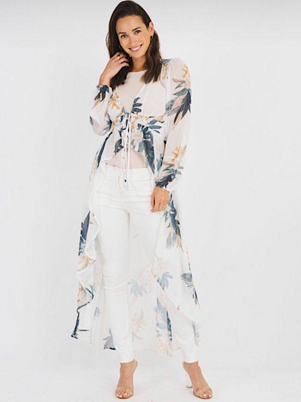 Tropical drape top