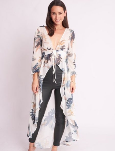 tropical drape top front
