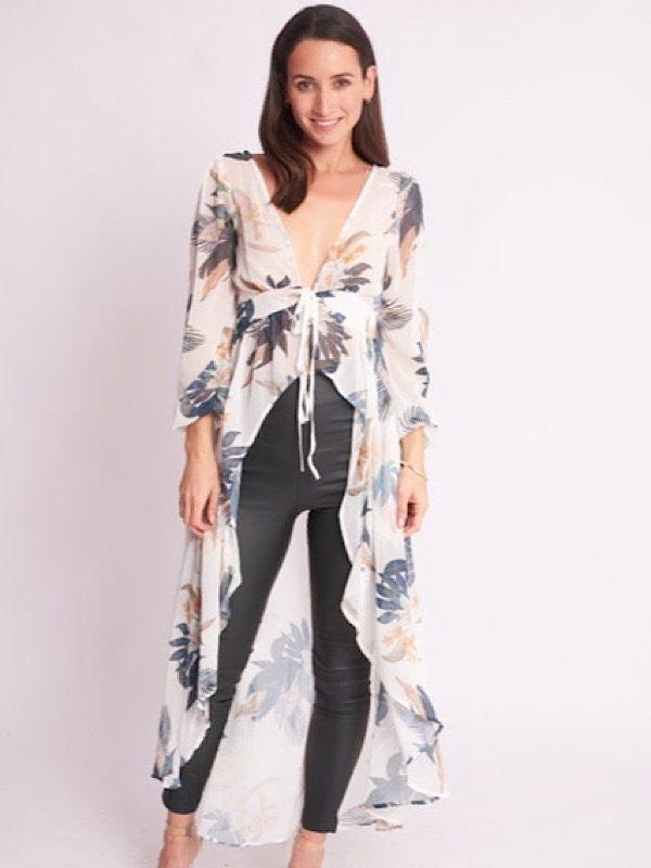 tropical drape top front