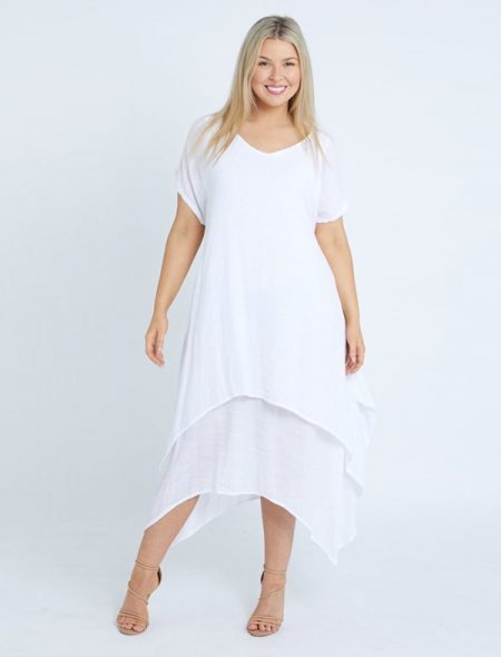 Layer Dress White