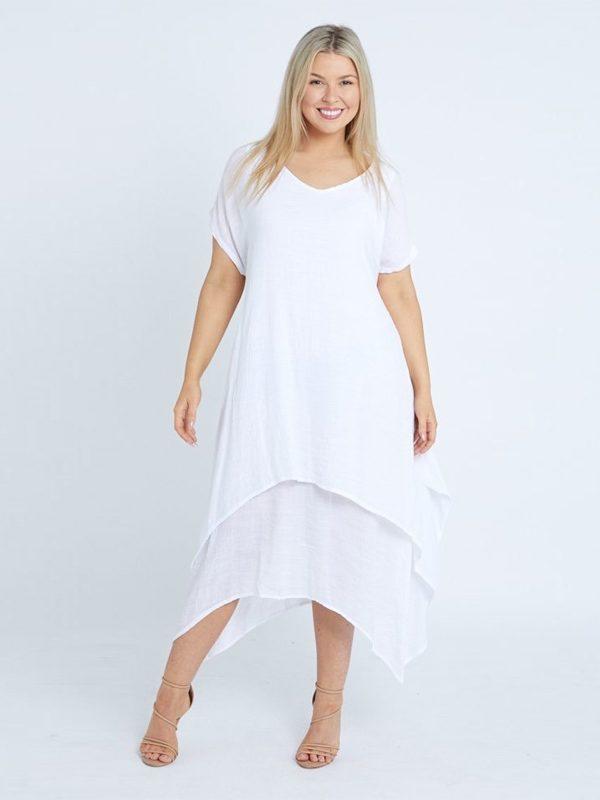 Layer Dress White