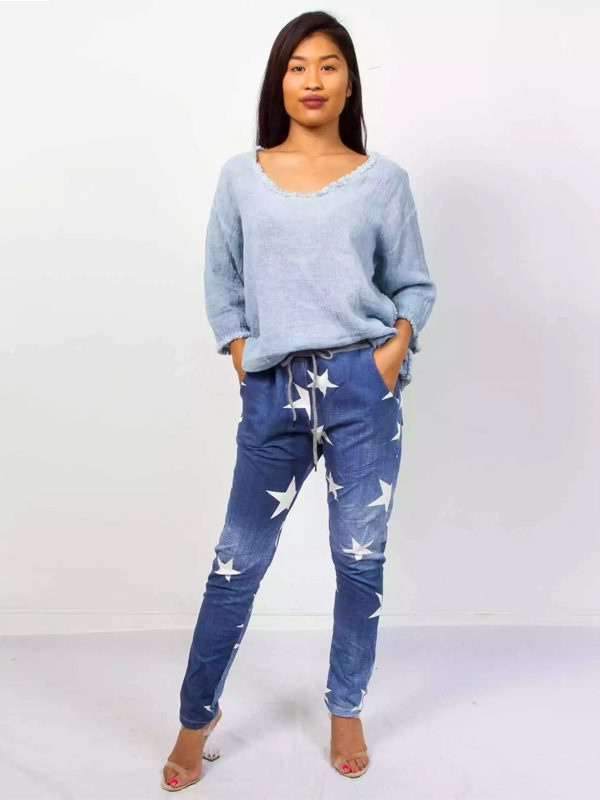 Star jeggings front