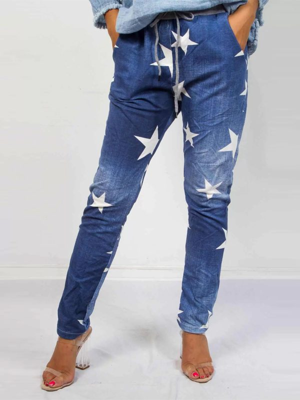 Star jeggings front view