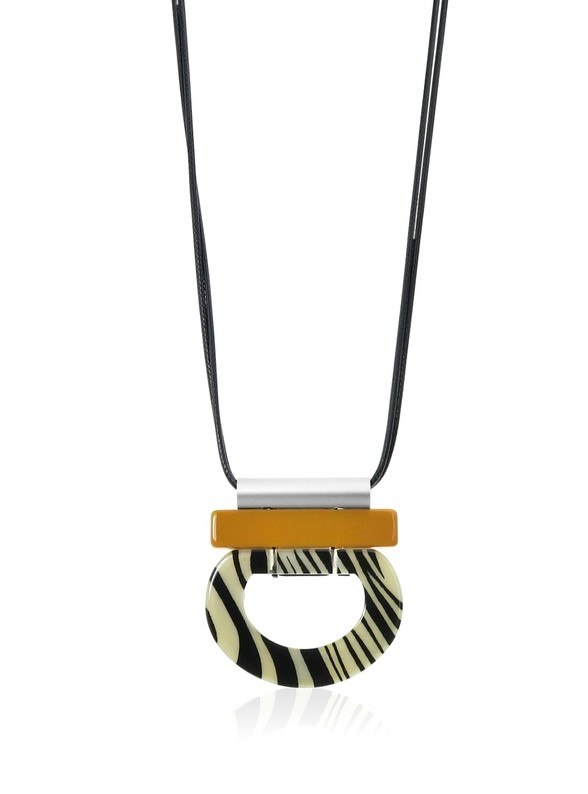 Zebra long pendant