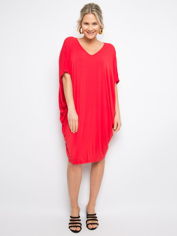 miracle dress in red reg size front
