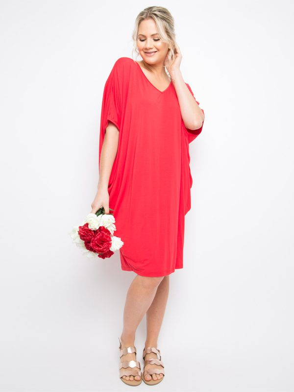 miracle dress red reg size
