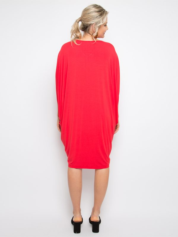 miracle dress back red