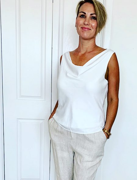 Classic cami in white