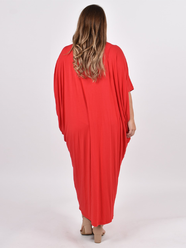 Maxi miracle dress curvy red back