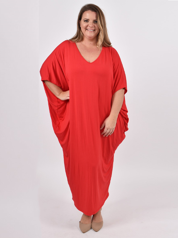Maxi miracle dress curvy red