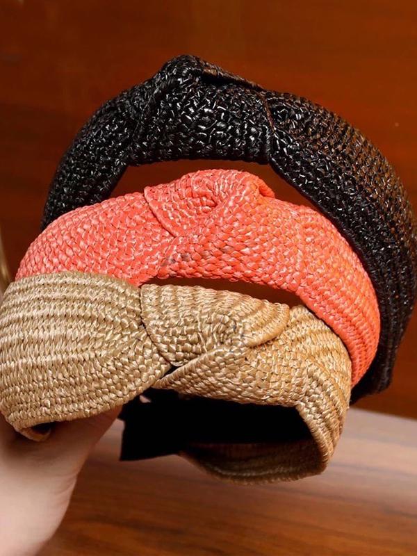 three colors- raffia headband