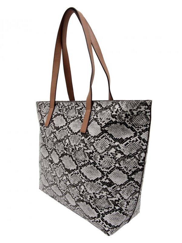 Reptile tote side grey