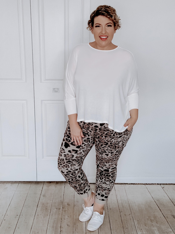 Everyday knit top and Leopard jeggings