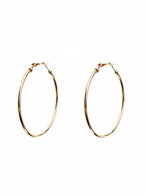 Rose hoop earrings 55mm