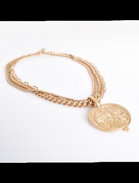 Gold treasure necklace