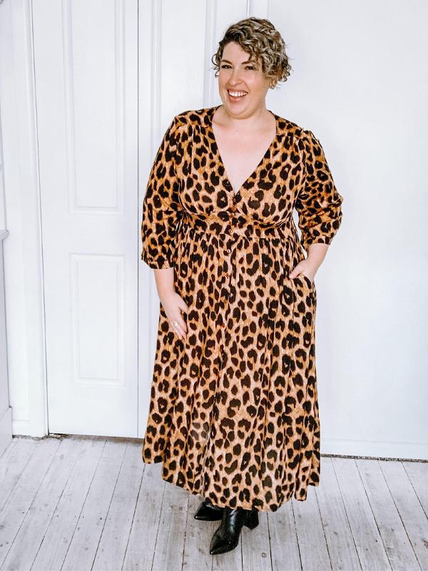 Winter Leopard dress