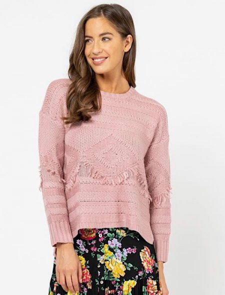 Pink jumper front view