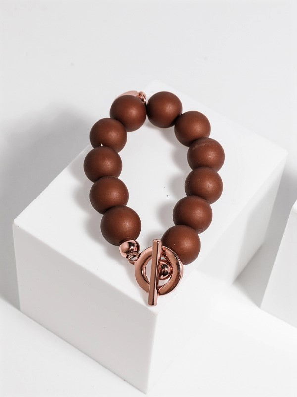 Bauble bracelet brown