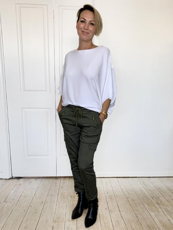 Cargo jeans khaki