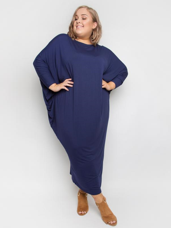 Winter maxi miracle dress navy