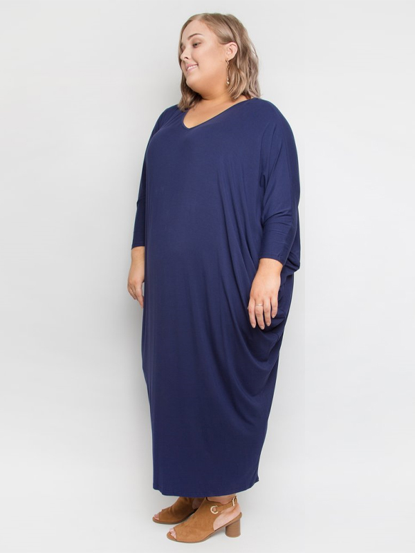 Winter maxi miracle dress side