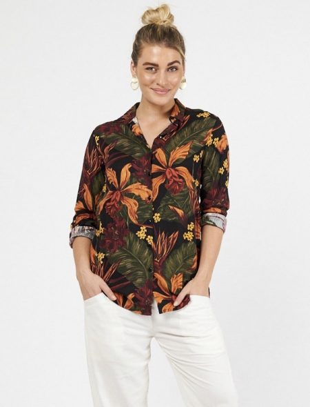 winter floral shirt