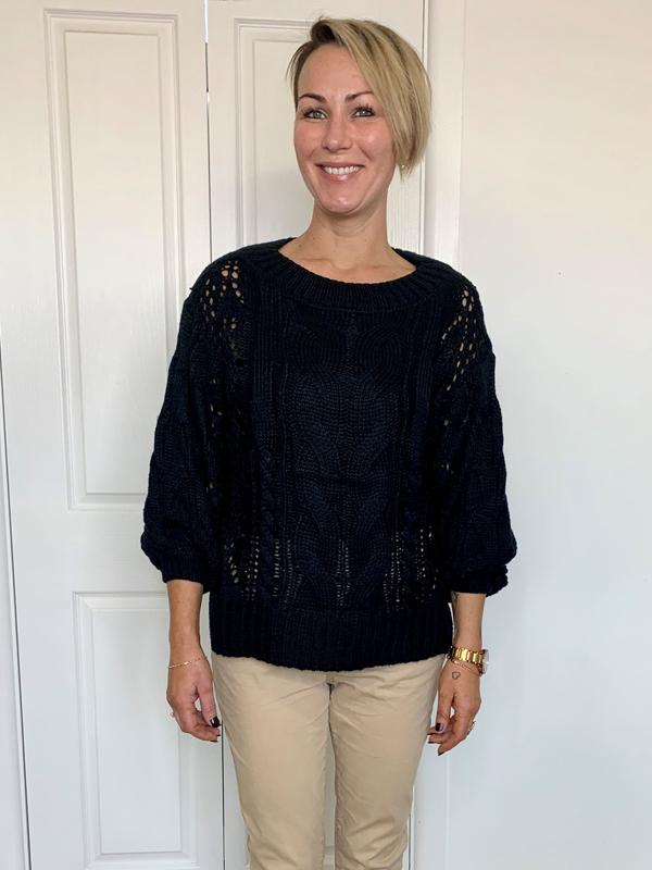 Favourite black knit top