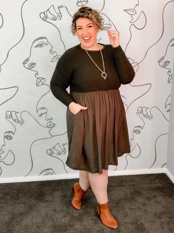 Knit Dress Khaki