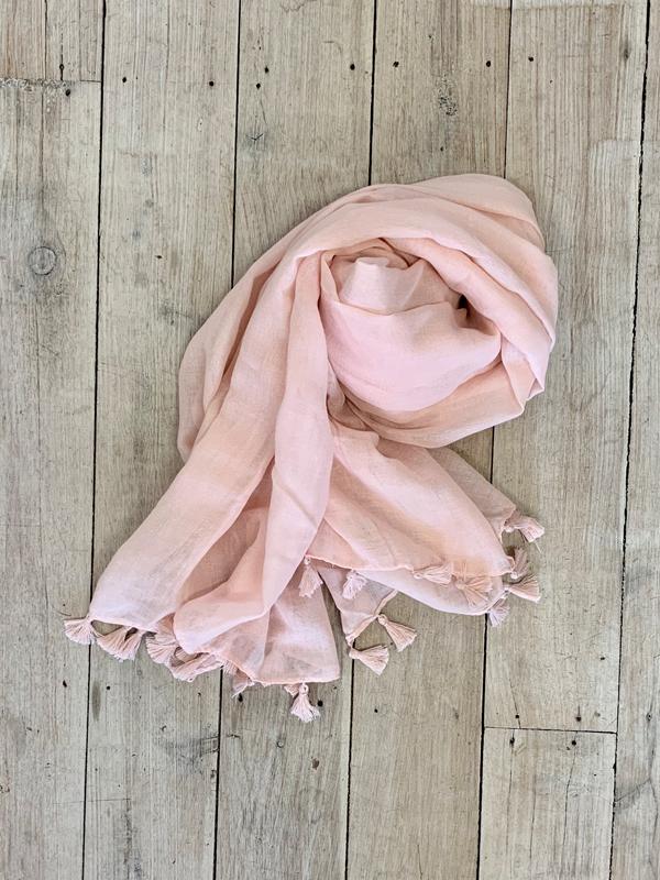 Tassel Scarves Pink