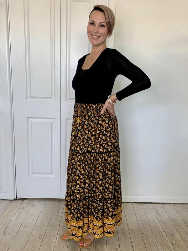 Bohemian Maxi Skirt Side