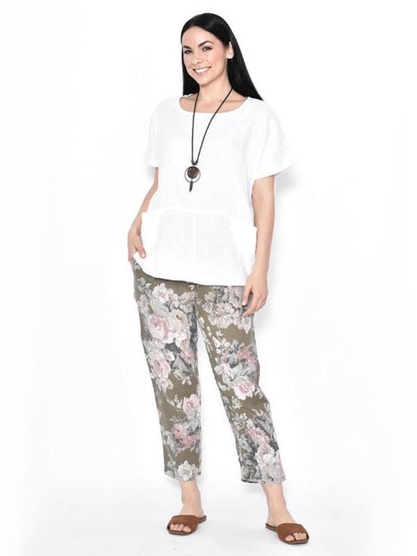 Florence Linen pants Khaki