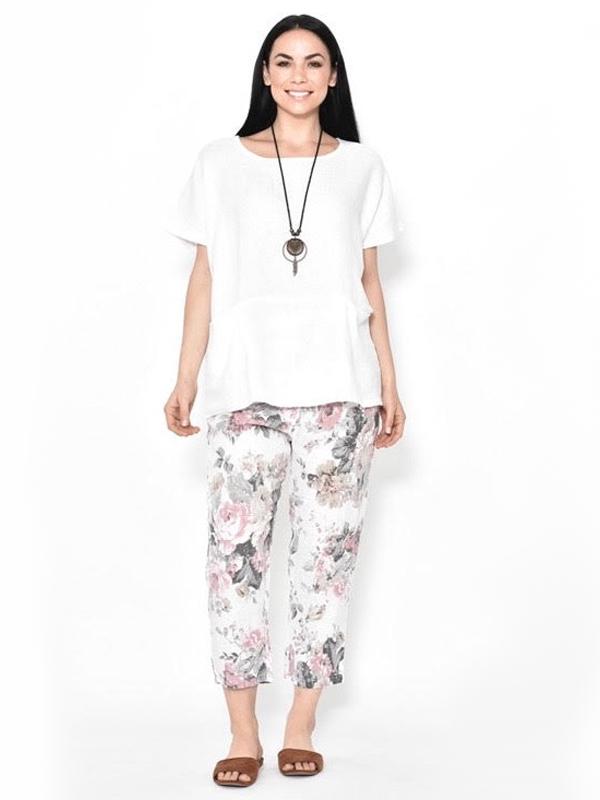 Florence Linen pants White